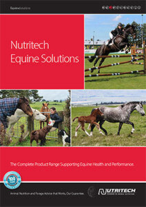 Nutritech Equine Brochure cover page, 2021